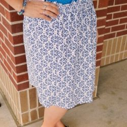 women's skirt tutorial with sizing
