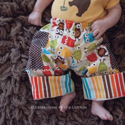 Boys pants sewing pattern with cuffs