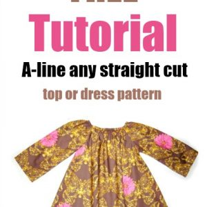 How to A-line any straight cut top or dress pattern
