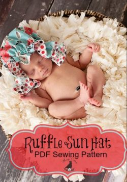 Ruffle Sun Hat Sewing Pattern Whimsy Couture DIY Crush (2)