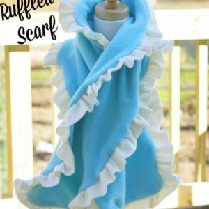 Ruffled Fleece Scarf Sewing Pattern Whimsy Couture DIY Crush