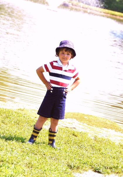 Boys shorts sewing pattern by Whimsy Couture