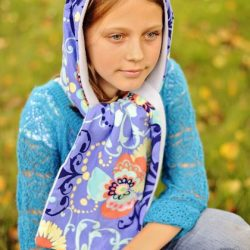 Hooded scarf sewing pattern by Whimsy Couture (2)