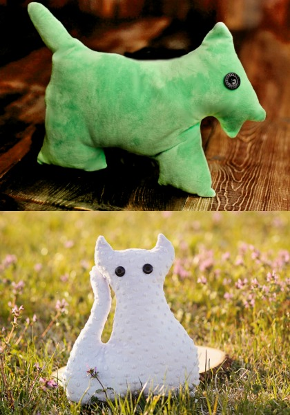 Cat and Dog Plushie Sewing Pattern