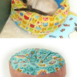 Marshmallow cat and dog pet bed pattern