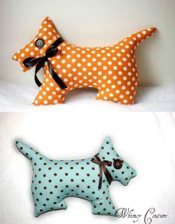 Easy Stuffed Dog Sewing Pattern