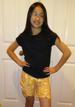Easy shorts sewing pattern with ruching by Whimsy Couture