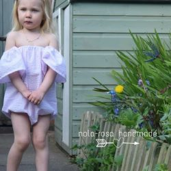 Off shoulder playsuit pattern by Whimsy Couture