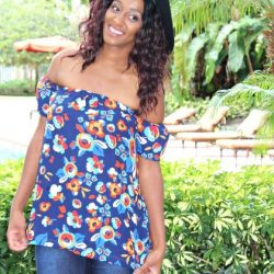 Ladies Off Shoulder Top Dress Pattern by Whimsy Couture