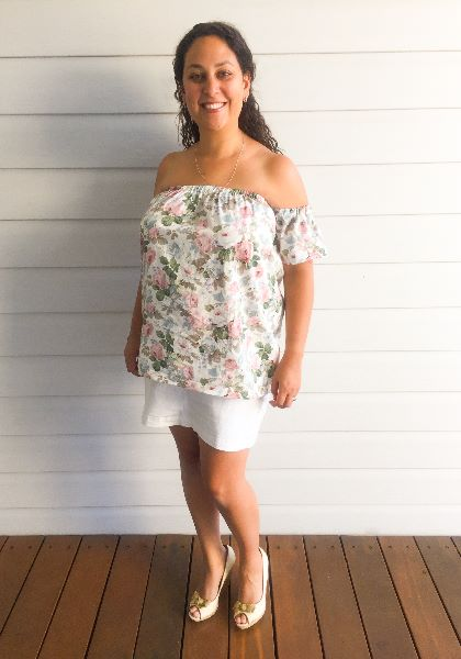 Las Off Shoulder Top Dress Pattern By Whimsy Couture